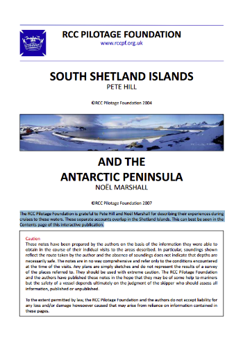 South Shetland Islands and Antarctic Peninsula